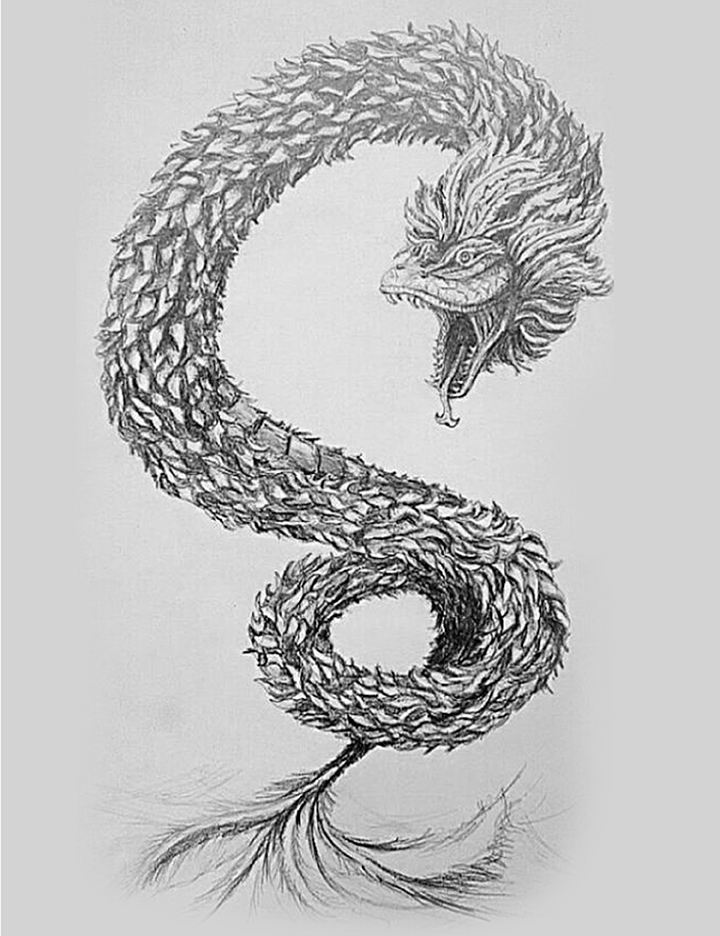 Feathered Serpent Tattoo Designs